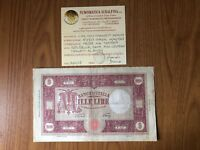 BANCONOTA LIRE 1000 GRANDE M MEDUSA 14 4 1948 RARA certificata MB/BB SUBALPINA