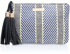 NEW KURT GEIGER CARVELA WOVEN CLUTCH BAG / ZIP TOP / HANDBAG