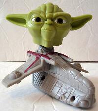 Star Wars McDonald's Toy YODA Bobblehead Ship Sound Works 2008 Clone Happy Meal