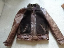VINTAGE 30'S BEAR LEATHER JACKET GOOD CONDITION MOTORCYCLE