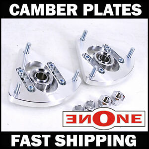 MK1 Pillowball Front Camber Plates Strut Mount 05-12 Volvo S40 For Coilover Kits