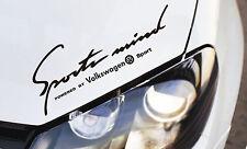 Etiqueta engomada de la mente Deportes se ajusta Volkswagen GTI TDI Golf Passat Polo TSI Emblema Logo B