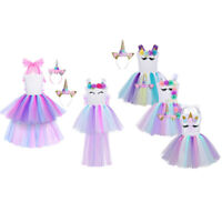 Toddler Kid Girl Cosplay Costume Party Birthday Fairytale Fancy Dress Up Outfit