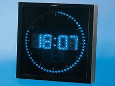 Horloge digitale murale avec 60 LED - Bleu - Lunartec