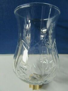 """1 Home Interiors Crysta Clear Glass Hurricane Votive Cup  ~ 5 1/2"""" Tall"""