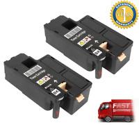 Set of 2 Black Comp Toner Cartridge For Dell 332-0399 4G9HP C1660w Color Printer