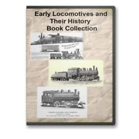 Train Locomotives Early Railroad History + Images 18 Historic Books CD - D313