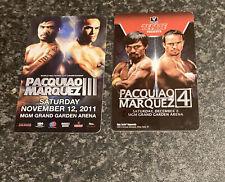 Manny Pacquiao v Juan Marquez MGM Grand Hotel Room Key Cards