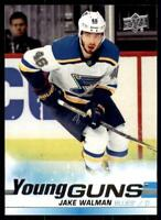 2019-20 UD SP Authentic  Update Young Guns #527 Jake Walman RC