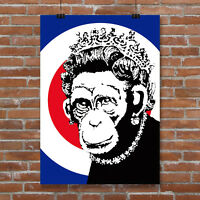 Banksy Monkey Director graffiti street art premium 20 x 30 inch Canvas Print