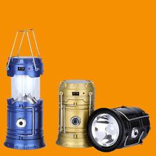 2x Solar LED Lantern Rechargeable Camping Flashlight Torch Light Lamp Light