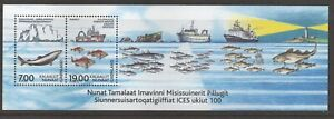 Greenland Sc#402a Exploration of the Seas S/S of 2, 2002, MNH