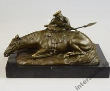 Bronzeskulptur russisches Motiv Pferd Mann Bronze Figur