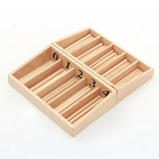 Baby Number Counting Math Toys Baby Early Educational Math Wooden Toy Box Lj