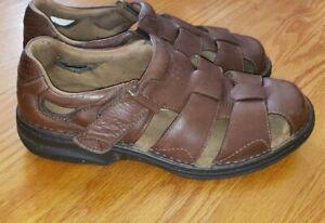 Florsheim Fisherman Brown Leather Sandals Mens Size 9.5W