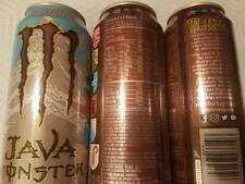 Monster Java Swiss Chocolate Energy Drinks 15oz LOT OF 3 FULL CANS