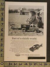 1958 Toy Ad Vehicle Sportsman Truck Trailer Boat Motor Tonka Mound Minnesotatk47