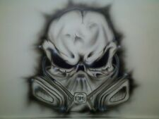 EURO MULTI LAYER 7 STAGE PAINT SKULL LASER CUT EVIL STENCIL TEMPLATE