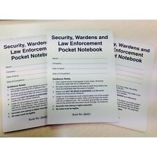 Security, Wardens and Law Enforcement Pocket Notebook