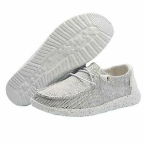 Hey Dude Wendy Sox Stone White Lightweight Casual Comfort Slip On Women's Shoes