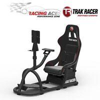 RS8 Trak Racer Black Racing Game Simulator Cockpit Simulation Chair Race Gaming