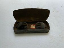 Vintage 1800's Victorian Steel Frame Spectacle Optician Eye Glasses With Case