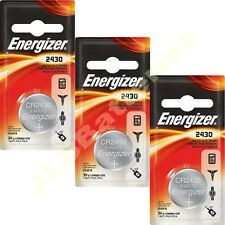 3 ENERGIZER 2430 Lithium Batteries CR2430 DL2430 5011LC
