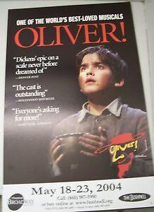 OLIVER 2004 Musical Theater Poster Lobby Card Bushnell Hartford CT Memorabilia
