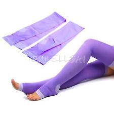 Women Overnight Slimming Slim Burn Socks Stockings Leggings Tight Purple NEW