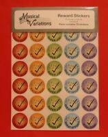 Music Reward Stickers School Student Pupil Teacher NEW