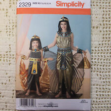 Simplicity 2329 Egyptian Cleopatra 2 looks Pattern 7-14