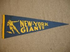 "1930's/40's New York Giants Football Pennant - 28.5"" x 10.5"""