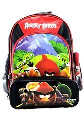 "Rovio Angry Birds Family Boys & Girls 12"" Canvas School Backpack w/Pencil Case"