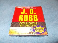 """Audio Book,J.D. Robb, """"Delusion in Death"""" Abridged 6 CD's,  7 Hours BRAND NEW!!"""