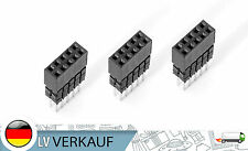 3Stk 2x5Pin 10P 2.54mm ISP Double Row Female Straight Header Pitch Socket Pin