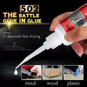 502 Super Glue Instant Cyanoacrylate Adhesive Strong Repair Bond Fast  L0Z0