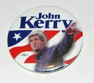 2004 JOHN KERRY presidential campaign pin pinback button political george bush