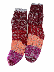 AnyBody Women's Pull-on Ombre Design Knit Socks Berry Multi Small/Medium Size
