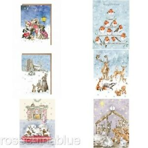 Wrendale small A5 traditional card advent calendar