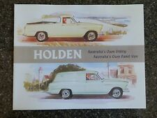 1958 HOLDEN FC UTE AND VAN SALES  BROCHURE 100% GUARANTEE