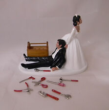 Wedding Reception Ethnic Race Car Truck Mechanic Tools Grease Cake Topper Garage