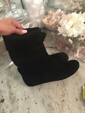 ALDO Ankle Boots Suede Peter Pan Boogied Leather Black 36 / 6 Moccasins
