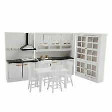 Play House Toy 1/12 Dollhouse Miniature Kitchen Room Furniture Decoration Kit