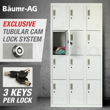 Baumr-AG 12-Door Steel Gym Locker - Grey