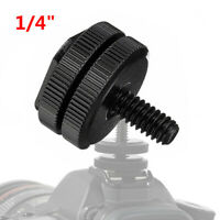 1/4~Mount Screw To Flash Hot Shoe Adapter Camera Light Stand Nut For GoPro-DSLR