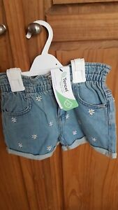 Girls Blue Denim Shorts Age 5-6 From Marks And Spencer Brand New