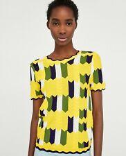 cherrie424: Zara Knit Yellow Colorblock Shirt