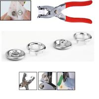 100pcs 9.5mm Studs Ring Press Popper Snap Fasteners w/Plier Tool for Baby Grow