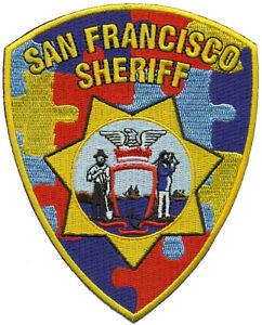 SAN FRANCISCO SHERIFF - AUTISM AWARENESS MONTH - SHOULDER PATCH