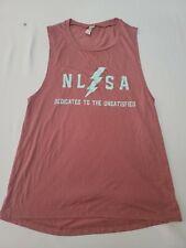 NLSA No Limits Sports Apparel Women's M Nude Sleevelss Shirt Weightlifting NWOT